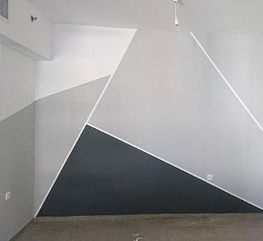 קיר משולשים, אפקט ערבה, אפקט קשמיר ועוד קיר צבע - הנדימן יכול הכל