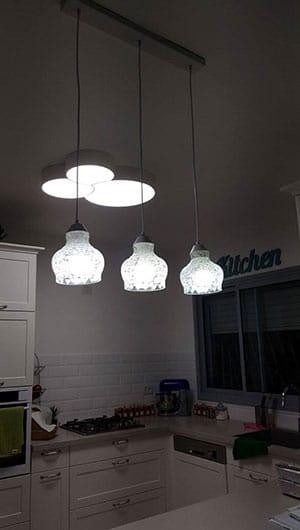 התקנת גופי תאורה הזזת נקודת מאור כולל חציבה - הנדימן יכול הכל